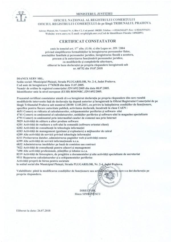 certificat lege 359 din 2004